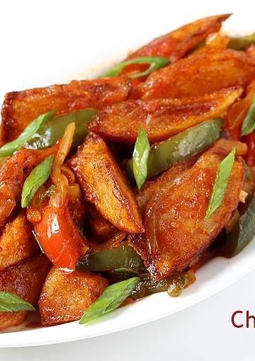 Chilli potato recipe   How to make chilli potato   Chilli aloo recipe
