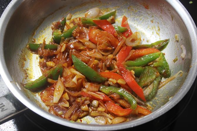 addition of vinegar for chilli potato recipe