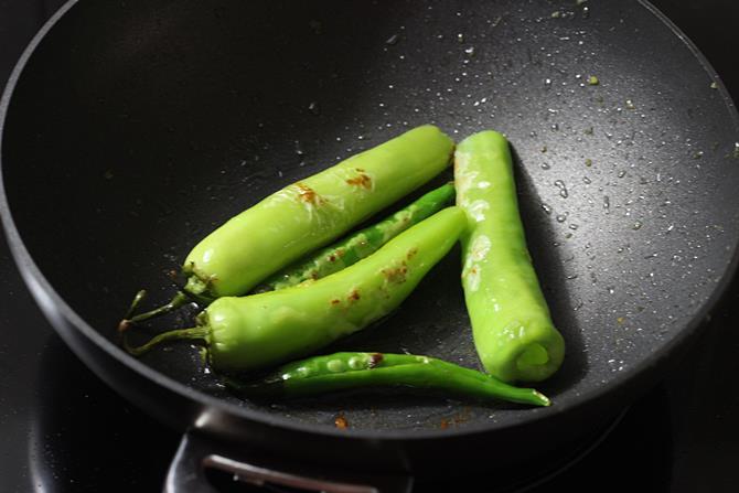 frying chillis