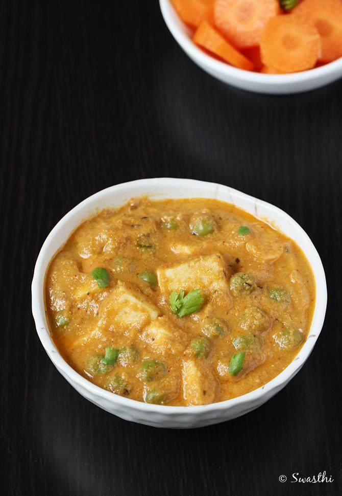 paneer mutter masala recipe swasthis