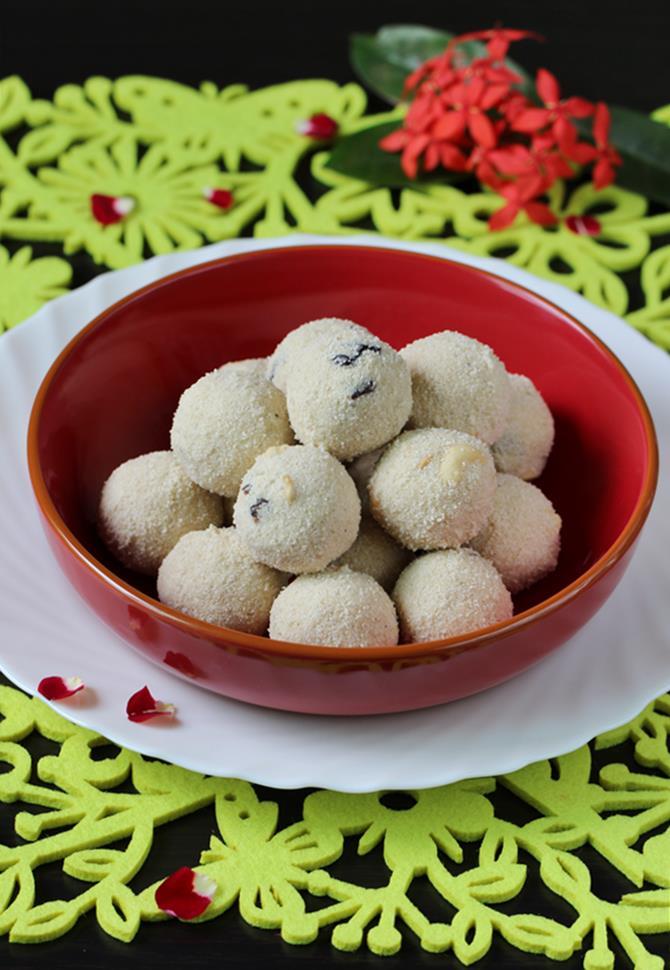 rava laddu recipe swasthis recipes