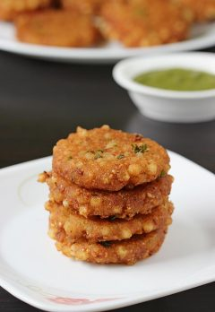 Sabudana vada recipe | How to make sabudana vada