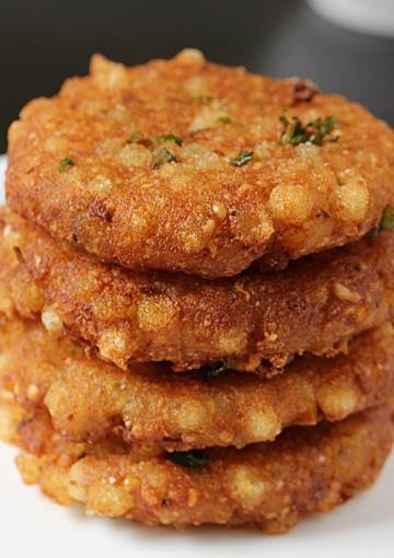 Sabudana vada recipe   How to make sabudana vada   Vrat recipes