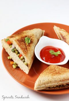 Sprouts sandwich | Moong bean sprouts sandwich recipe