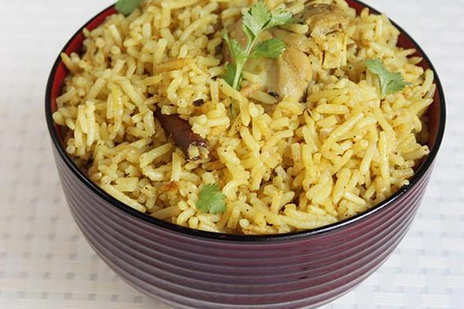 andhra chicken biryani swasthis recipes