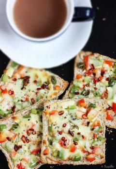Capsicum cheese toast sandwich recipe | Quick cheese toast recipe