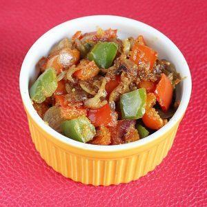 Capsicum fry recipe | dry capsicum curry | how to make capsicum fry recipe
