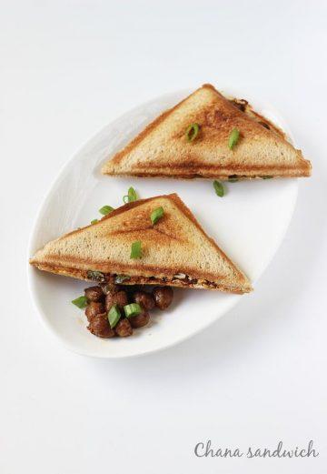 Chana sandwich recipe   Chana masala sandwich