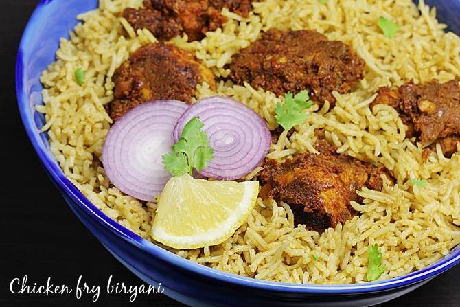 chicken fry biryani recipe swasthis recipes