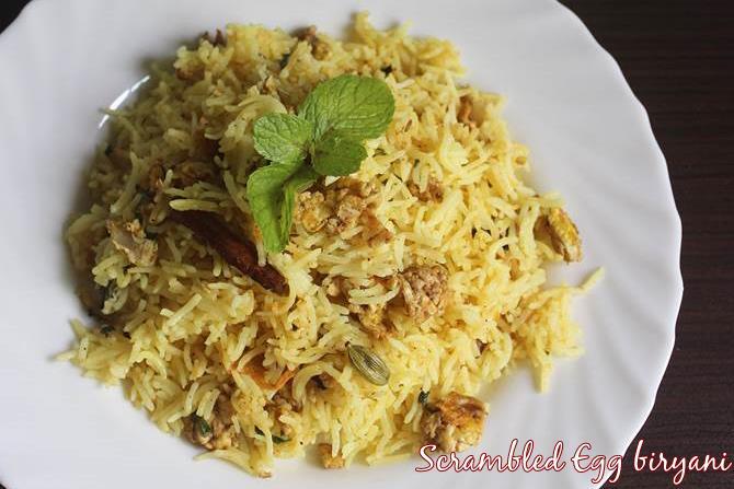 egg bhurji biryani swasthis recipes