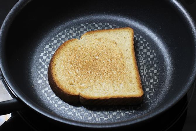 chop veggies to make fried egg sandwich