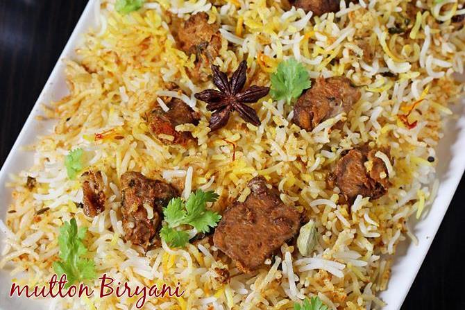 hyderabadi mutton biryani swasthis recipes