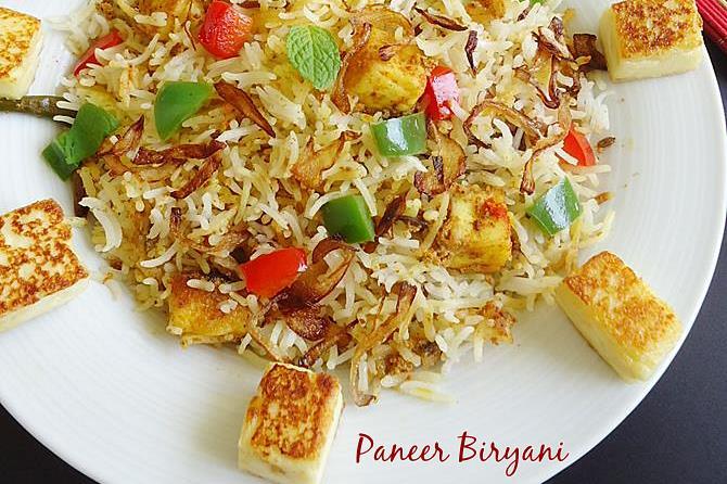 paneer biryani swasthis recipes