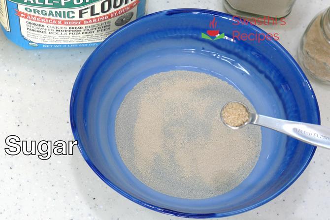 addition of sugar make pizza dough