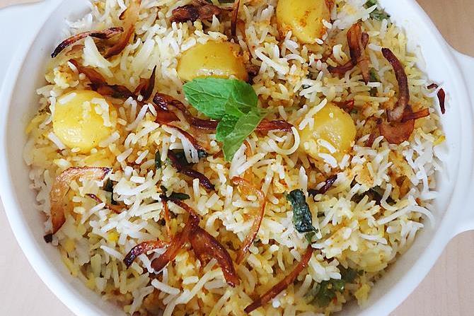 potato biryani swasthis recipes