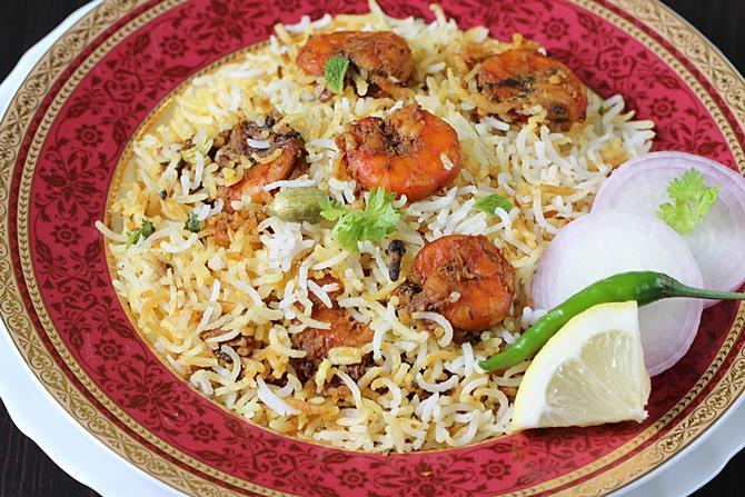 prawn dum biryani swasthis recipes