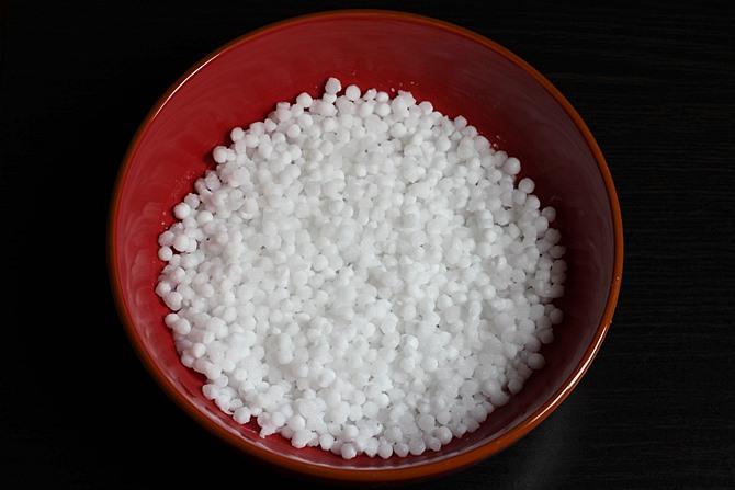 drained sago after soaking to make sabudana khichdi