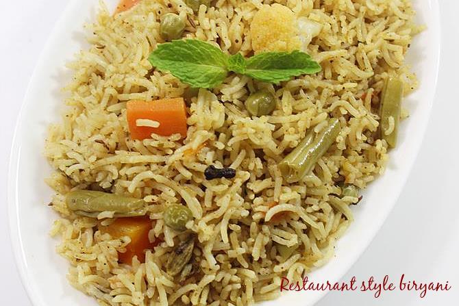 vegetable biryani swasthis recipes
