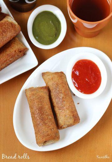 Bread roll recipe | How to make stuffed bread rolls |  Snacks recipes