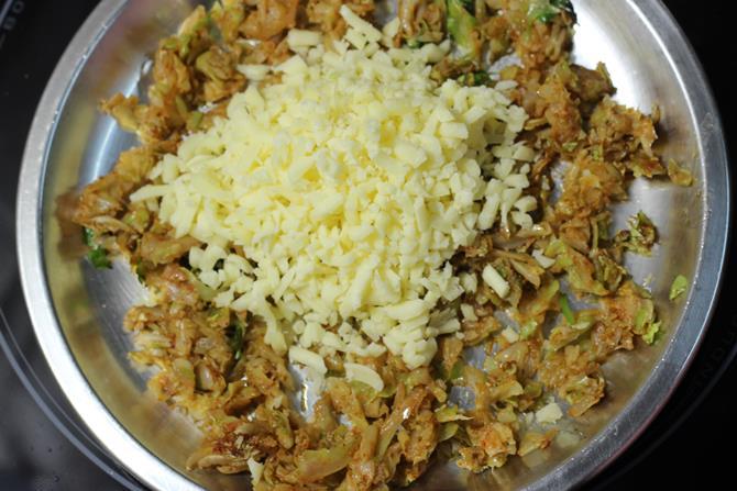 cabbage cheese paratha recipe 05