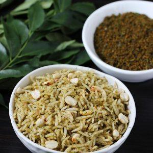 Karivepaku podi | Curry leaves powder recipe | Curry leaves rice