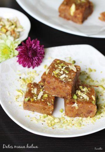 Dates halwa recipe   Dates burfi   Dates mawa ladoo