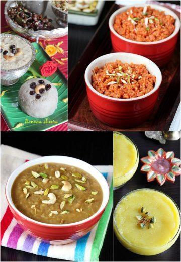 Halwa recipes | 20 Indian halwa varieties (sheera, kesari)