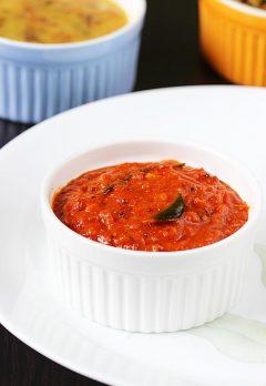 Tomato pickle recipe   How to make easy instant tomato pickle recipe
