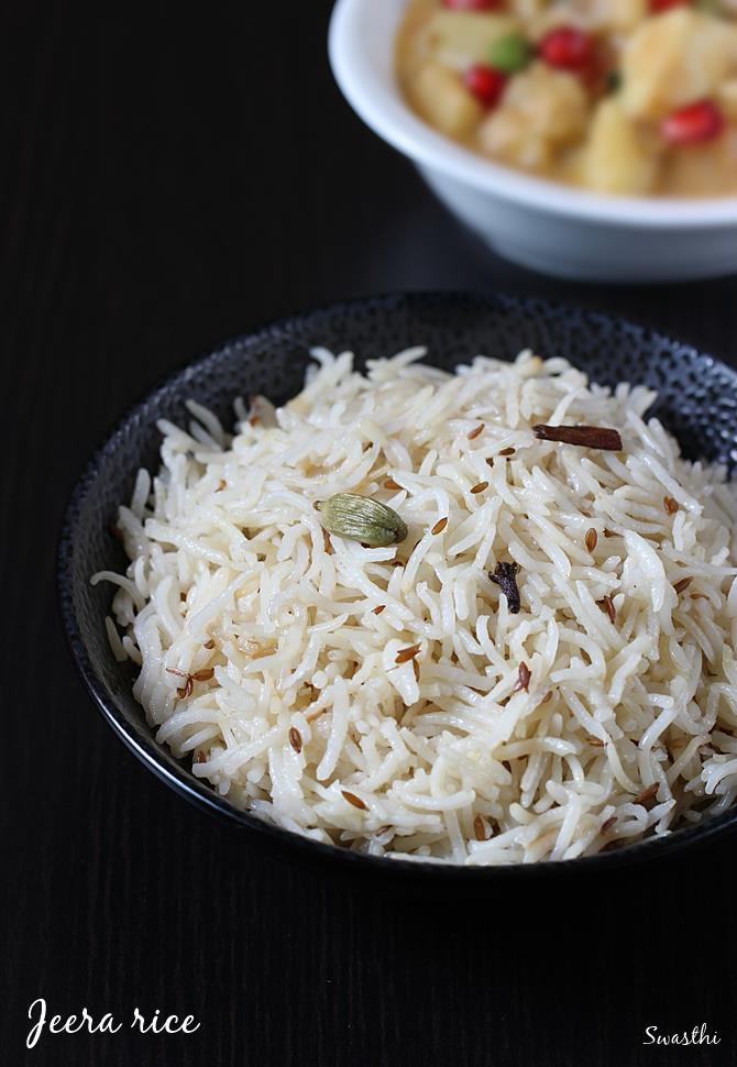 jeera rice to serve with gravy
