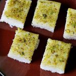 coconut burfi recipe, how to make coconut barfi