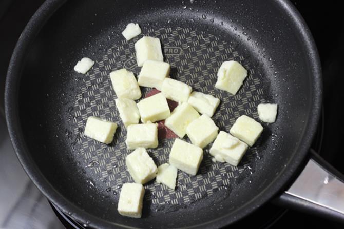 fry paneer for navratan korma recipe