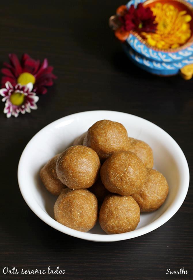 oats sesame laddu