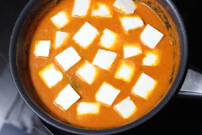 addition of panir to gravy
