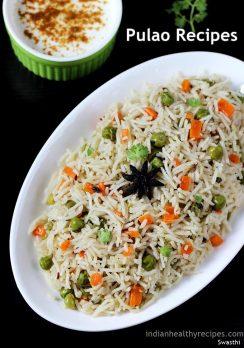 Pulao recipes   Collection of 25 easy pulao or pulav recipes