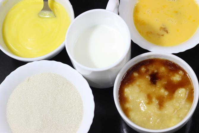Beat eggs for banana cake recipe