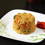 masala oats recipe, how to make oats masala upma