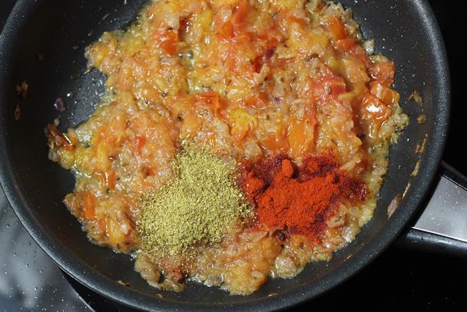 masala chili powder for matar mushroom curry