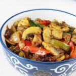 Mushroom pepper fry | Easy capsicum mushroom recipe