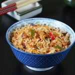 spicy egg fried rice | schezwan egg fried rice recipe