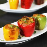 Stuffed capsicum recipe | potato stuffed bell peppers | bharwan simla mirch