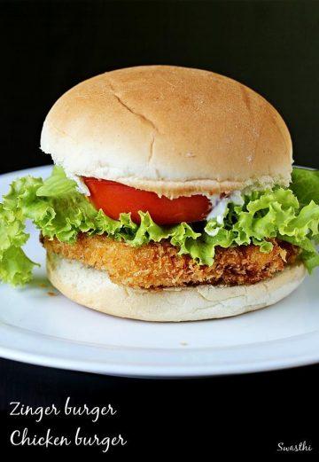 Chicken burger recipe | Zinger burger recipe in KFC style