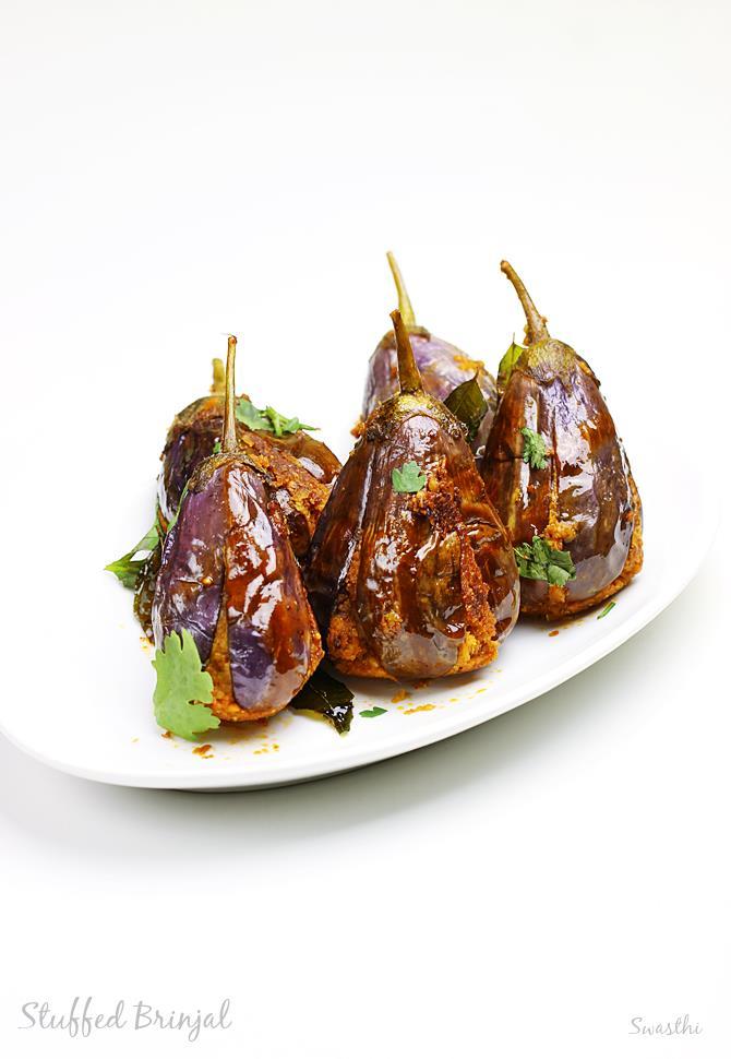gutti vankaya fry stuffed brinjal fry