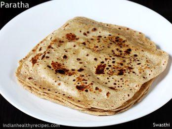 Paratha recipe   How to make plain paratha recipe   Atta paratha