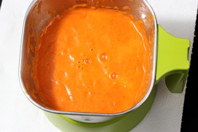 tomato pepper puree for red sauce pasta recipe