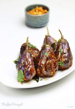 Stuffed brinjal fry recipe | Gutti vankaya fry recipe | Andhra style brinjal fry