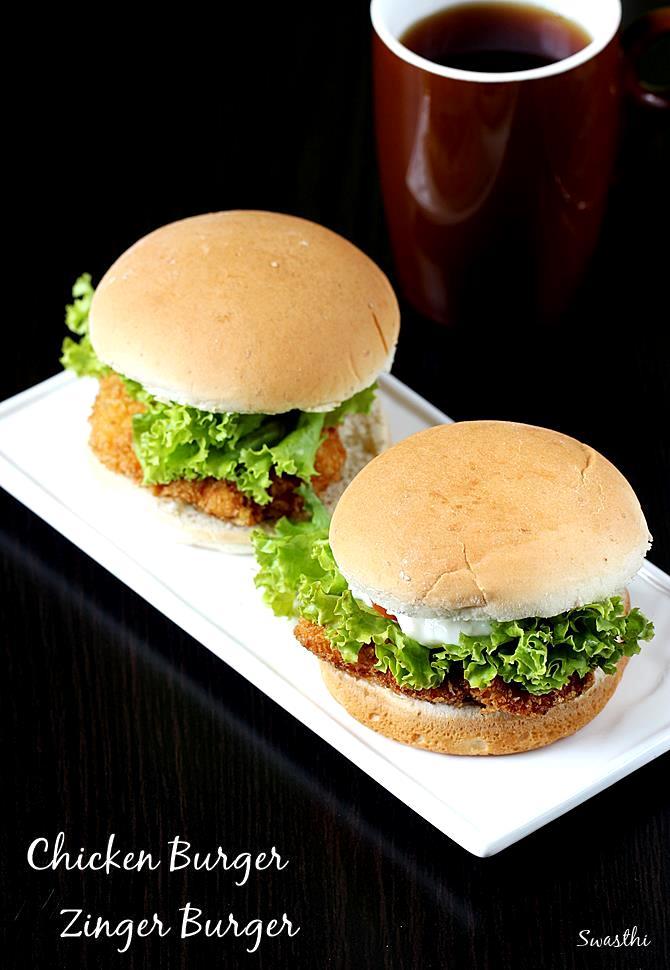 Chicken Burger Recipe Zinger Burger Recipe In Kfc Style