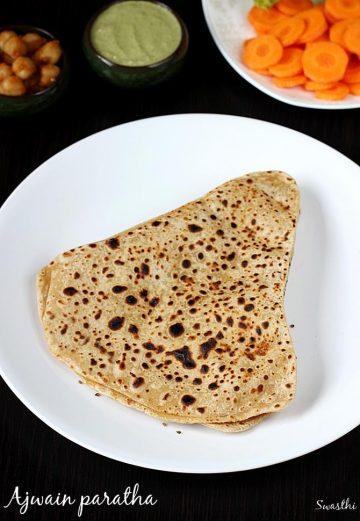 ajwain paratha recipe, how to make ajwain paratha