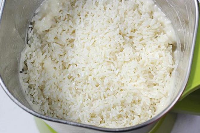 blending rice