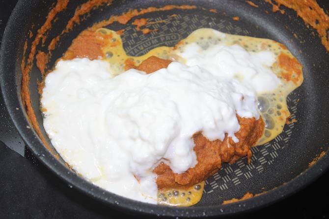 addition of yogurt for dum aloo recipe