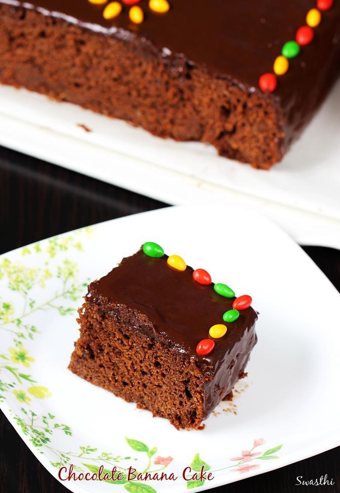 easy chocolate banana cake